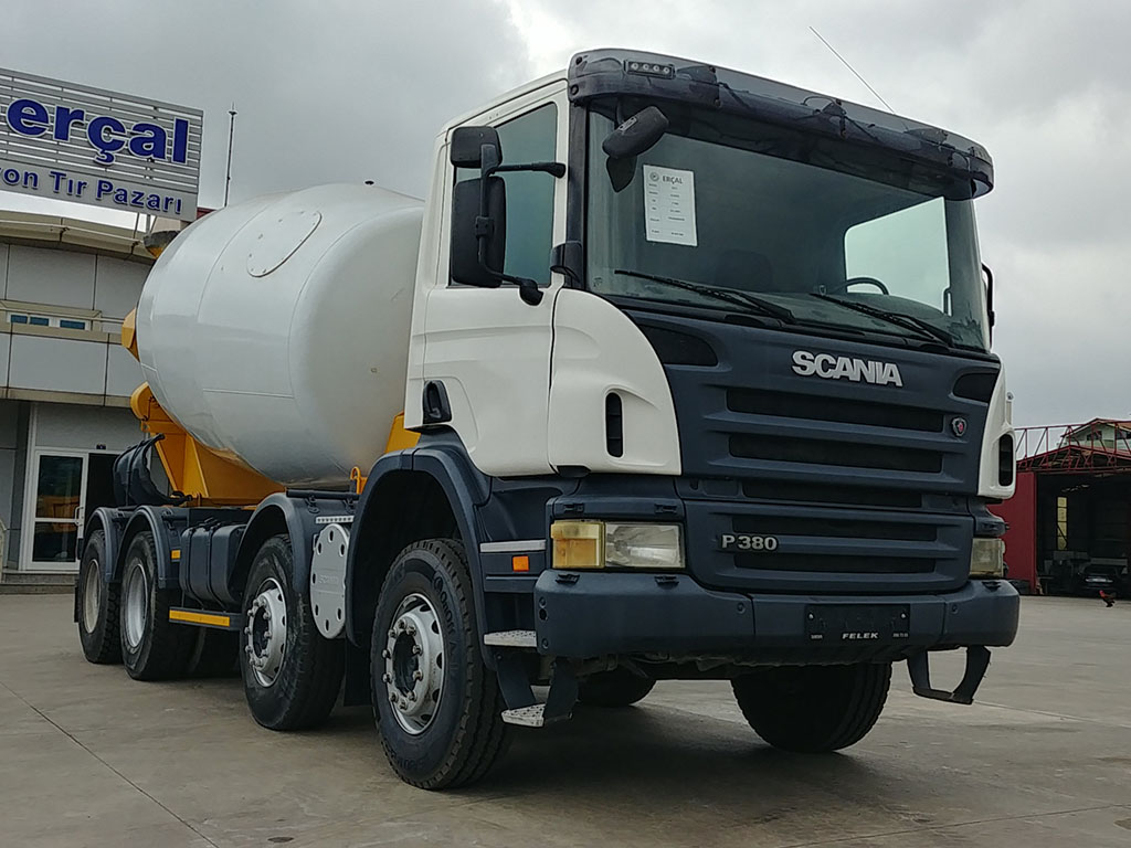 2011 MODEL SCANIA P 380 E4 8X4 - CONCRETE MIXER  - Erçal Trucks